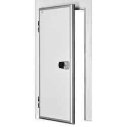 Ușă frigorifică pivotantă tip ''ALUDOOR'' PV100 cu prag