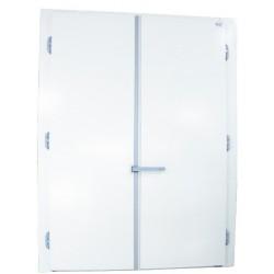 Ușă frigorifică pivotantă tip ''FRIGODOOR'' PV80 cu două canate cu prag